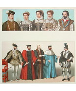FRANCE 16th C Royal Court Costume Kings Queens - COLOR Litho Print by Ra... - $12.15