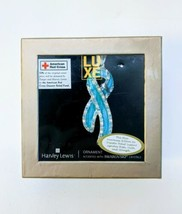 Swarovski Crystal Red Cross Limited Edition Ornament Blue Ribbon Disaster Relief - $22.24