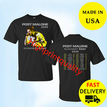 Post Malone Runaway Tour 2020 Black Men's T-Shirt Christmas Gift Size M-3XL - $23.99+