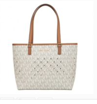 MICHAEL KORS Violet SM Carryall Tote 35T7GV1T1B in Vanilla/PLGOLD MSRP ... - $242.55