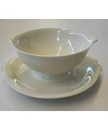 Vtg Rosenthal China Big Gravy Boat w/ Attached Underplate Ivory Made in ... - $35.00