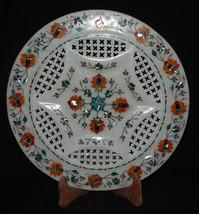 "12"" Marble Tray Plate Hakik Pietra Dura Gifts Decor Hand made Home Decor Arts - $218.50"