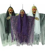 Halloween Hanging Skeleton Ghost Electric Voice Party Decoration Horror ... - $17.90