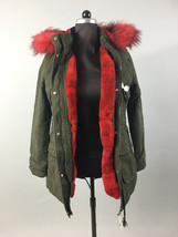 Luxury gift/Red  Parka fur Rabbit  /Hooded/ Wedding,or anniversary present - $449.00