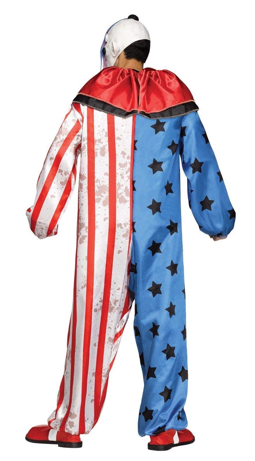 Fun World Böser Clown Maske Erwachsene Herren Halloween Kostüm Standard 132014