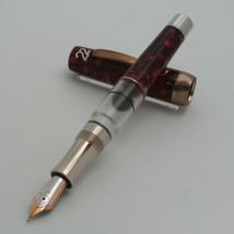 Stipula Vintage 22 Rose Marble Resin 18k 750 Nib (F) EMS Shipping - $411.02