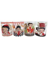 Betty Boop Assorted Images Set of Four 12 oz Drinking Glasses, NEW UNUSE... - $46.43