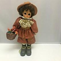 1988 Brinn's Brown Hair Thanksgiving November Pilgrim Calendar Doll Bask... - $99.99