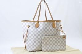 LOUIS VUITTON Damier Azur Neverfull MM Tote Bag N51107 LV Auth sa1845 - $1,180.00