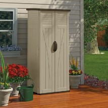 Outdoor Storage Utility Cabinet Lockable Plastic Shed Garden Patio Pool ... - $268.84