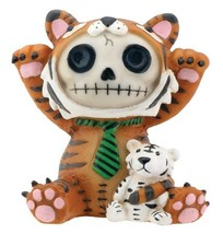 Brown Tigrrr with Small Tiger Furry Bones Collectible Statue - $8.79