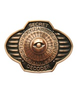 New Vintage Bronze Plated Secret Decorder Spinner Belt Buckle - $7.55