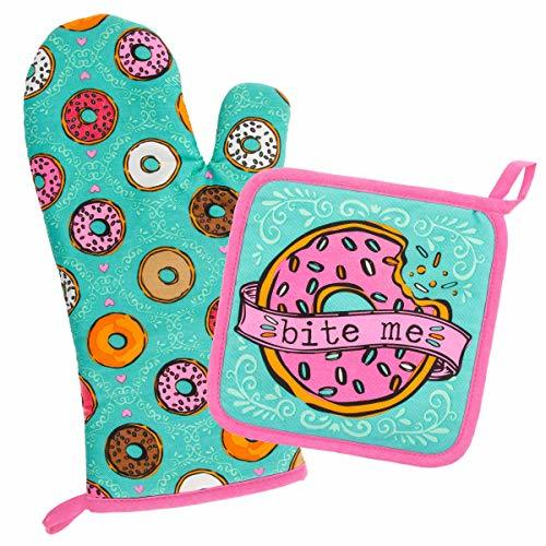 Wit Gifts Oven Mitt & Pot Holder, Donut