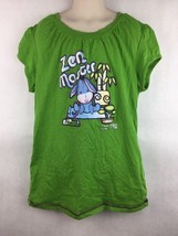 Disney Cuties Kid's Green Cartoon Eeyore Graphic Shirt Size Large - $14.84