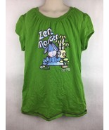 Disney Cuties Kid's Green Cartoon Eeyore Graphic Shirt Size Large - $14.84