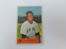 1954 Bowman Hank Bauer Baseball Card #129 EX No Creases New York Yankees - $17.58