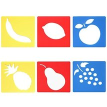 TRIXES 6PC Assorted Fruit Drawing Stencil Templates for Scrapbooking Car... - $3.99