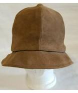 Suede Union Made Cabbie Newsboy Hat Cap Tan Baa Baas By Elberg New York - $18.76