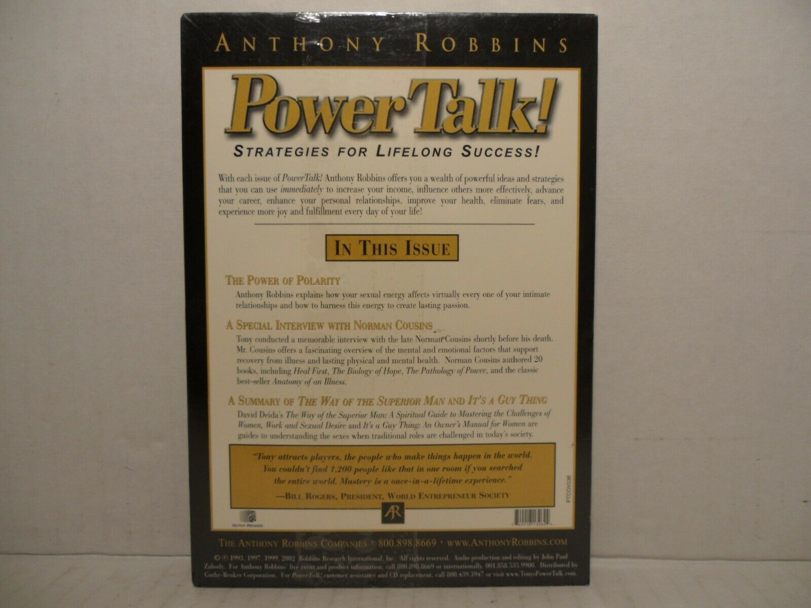 Anthony Robbins' Power Talk! The Power Of and 50 similar items