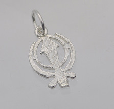 HOT Tiny Sterling Silver Sikh Khanda charm for charm bracelet or necklac... - $8.56