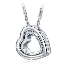 Woman Heart Necklace W Swarovski Crystals Lady Pendant Fashion Jewelry L... - $40.71