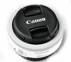 Canon EF 40mm F/2.8 STM Pancake Lens, White, Bulk Package image 2