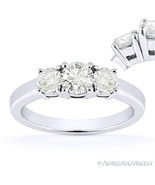 Forever ONE D-E-F Round Cut Moissanite 3-Stone Engagement Ring in 14k Wh... - €737,67 EUR+