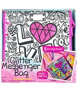 Its So Me! Glitter Messenger Bag Coloring Decorating Kit with 5 Designer... - $15.60