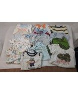 Lot Baby Clothes Boys 13 pcs Stained - Footed PJs Sleepers, Creeper/Body... - $3.99