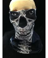 Seamless SKELETON SKULL MASK Scarf Hat Face Shield Bandanna Wrap - $4.87