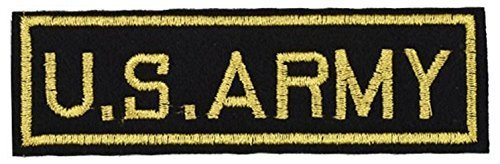 US Army Gold and Black Patch 4 x 1 inch