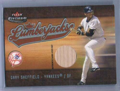 2005 Platinum Lumberjacks Bat Silver #GS Gary Sheffield NM-MT NM-MT MEM Yankees  image 1