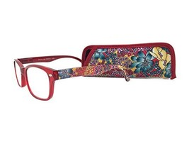 """Eyesential by Foster Grant """"Blossom"""" Women's Red Reading Glasses with Case +1.00 - $15.99"""