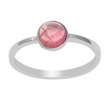 Genuine Tourmaline Gemstone 925 Sterling Silver Ring Jewelry SHRI3577 - £27.24 GBP