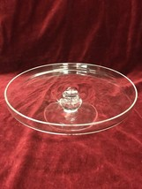 VINTAGE CLEAR CRYSTAL GLASS PEDESTAL CAKE PLATE STAND MARQUIS WATERFORD ... - $59.39
