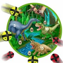 Fun Dinosaur Dart Board Game With 6 Balls Using Hook-And-Loop Fasteners ... - $18.11