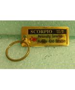 "St. Evans Black ""Scorpio"" Metal Key Chain 1 1/4"" X 3""  UPC:710534489935 - $7.67"