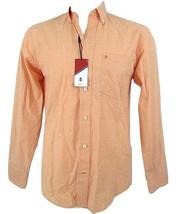 IZOD Heritage Essentials Men's Long Sleeve Button Collar Peach Shirt Size M - $24.26
