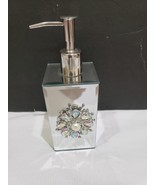 American Atelier Brooch Mirrored Silver Soap Lotion Dispenser NEW - $32.99
