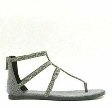 Jessica Simpson Women Gladiator Sandals Cammie Size US 6M Pewter Multi Glitter - $29.94