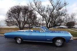 1967 Chevrolet Impala SS Convertible blue   24 x 36 INCH   sports car - $18.99