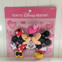 Tokyo Disney Resort 2008 Mickey & Minnie Kiss Heart Magnet Sweet love Valentine - $37.62
