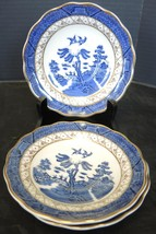 Three Royal Doulton Real Old Willow Blue Saucers * Majestic Collection - $7.60