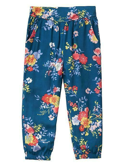 New Lots of 2 Gap Kids Girls Floral Soft Pants Blue Multi Floral Variety Sizes - $22.76