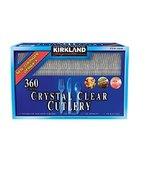 Kirkland Signature CUTLERY Crystal Clear Cutlery-360 ct, Pack of 1-360 U... - £20.35 GBP