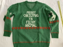 Home Alone Sweater L Merry Christmas Ya Filthy Animal VTG Ugly Sweater G... - $19.00