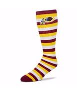 NFL Washington Redskins Striped Knee High Hi Tube Socks One Size Fits Mo... - $8.95