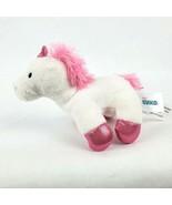"Baby Gund Luna Unicorn 5"" Plush White Pink Shiny Hooves Stuffed Animal Toy - $12.12"