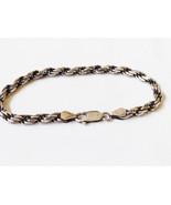 """VTG 925 Sterling Silver Italy Rope design Chain Link Bracelet 7.25""""L - $43.56"""