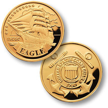 USCG Eagle MerlinGold Challenge Coin - $9.89